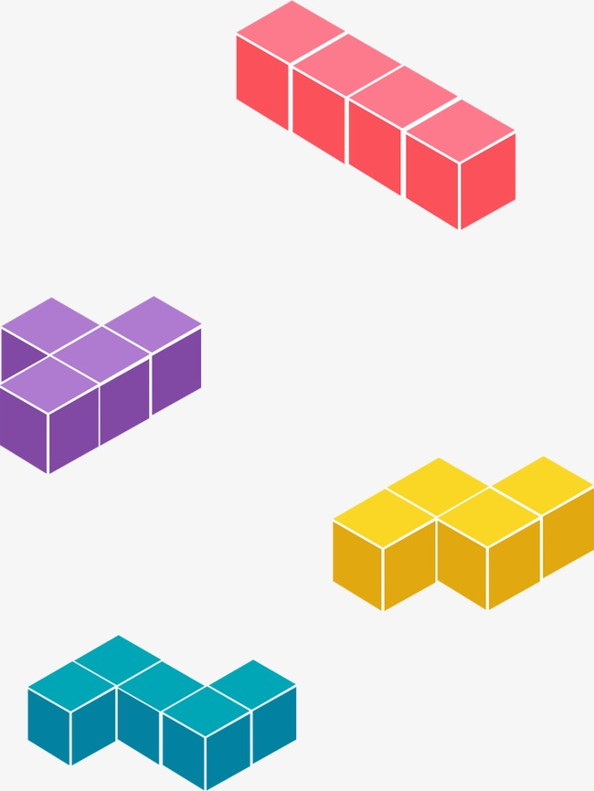 650x866 Tetris, Three Dimensional, Trend Png And Vector For Free Download