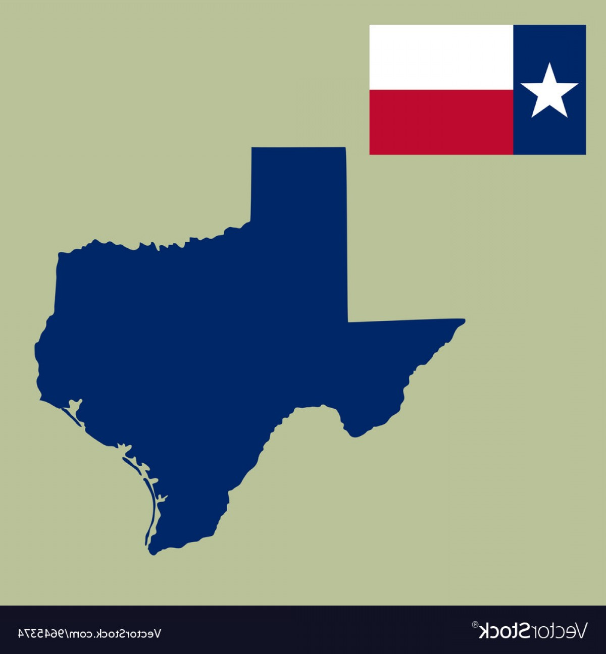 1200x1296 Map Of The Us State Of Texas With Flag Vector Lazttweet