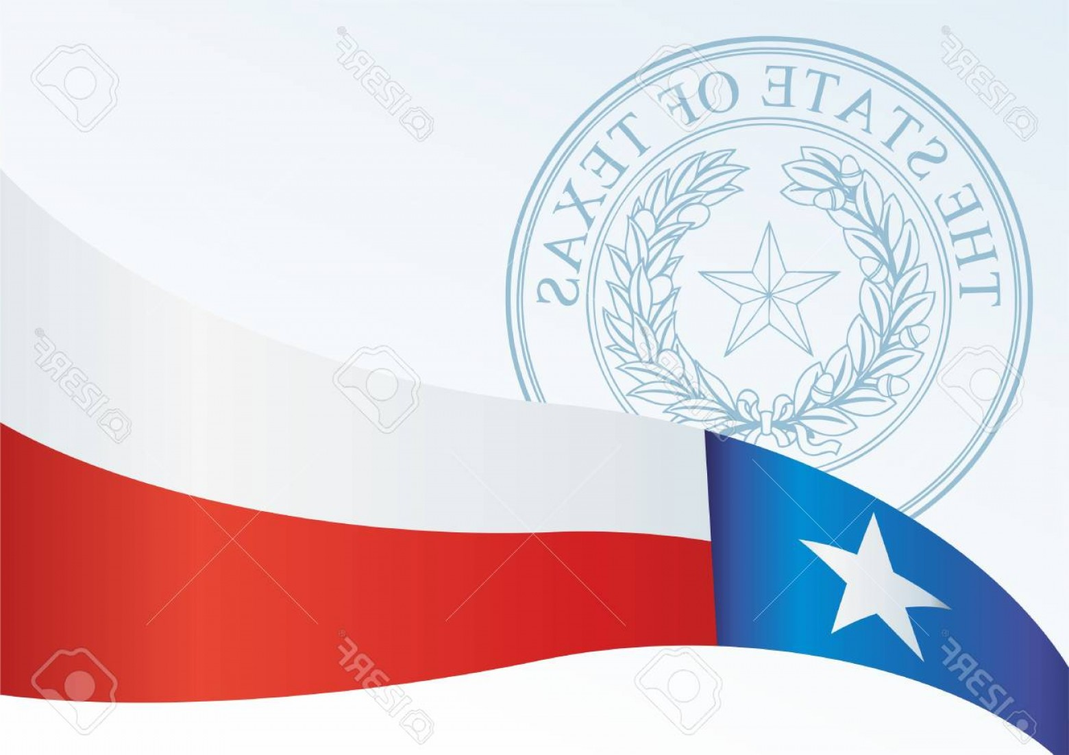 1560x1102 Photostock Vector Texas Flag Template For The Award An Official