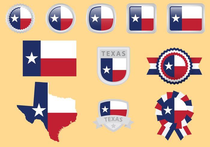 700x490 Texas Flag Vectors