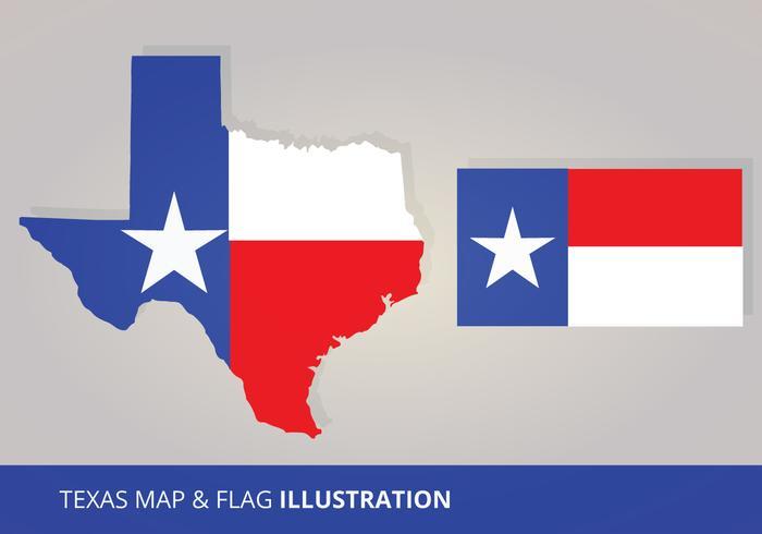 700x490 Texas Flag And Map Vectors