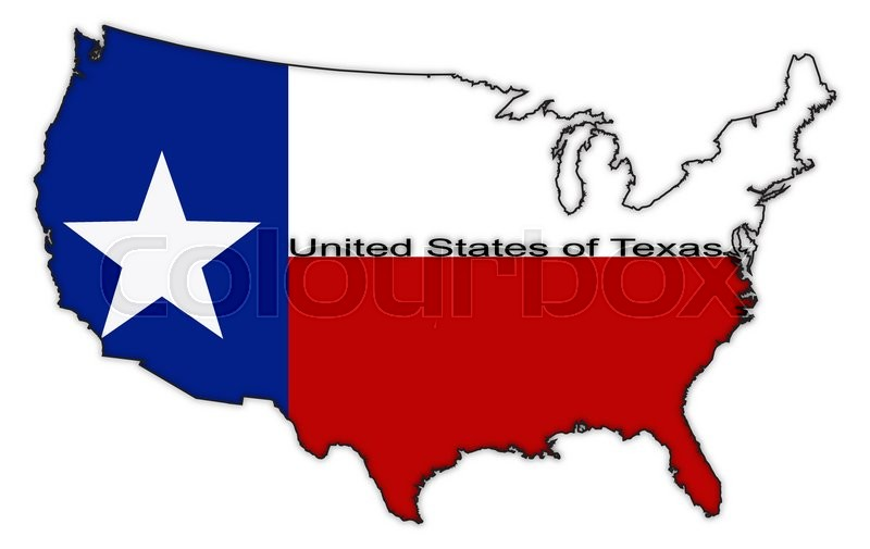 800x505 A Texas Flag In The Us Map Isolated On A White Background Stock