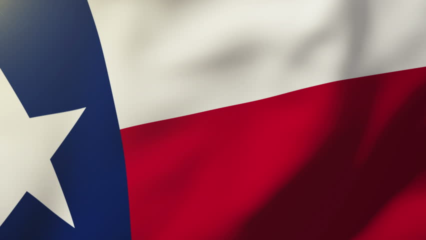 852x480 Texas Flag Vector Stock Video Footage