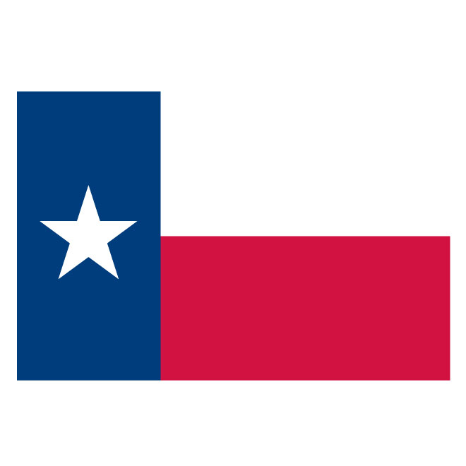 660x660 Vector Flag Texas