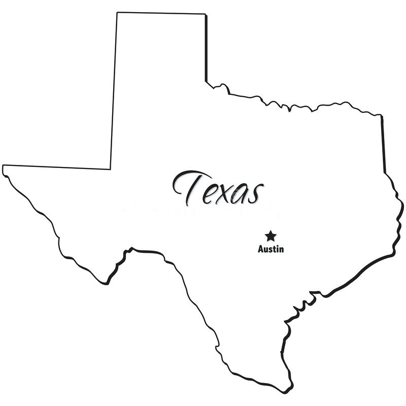 800x800 Maps Outline Of Texas Map Vector With Flag Major Cities. Outline