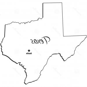 300x300 Photostock Vector State Of Texas Simple Vector Outline Lazttweet