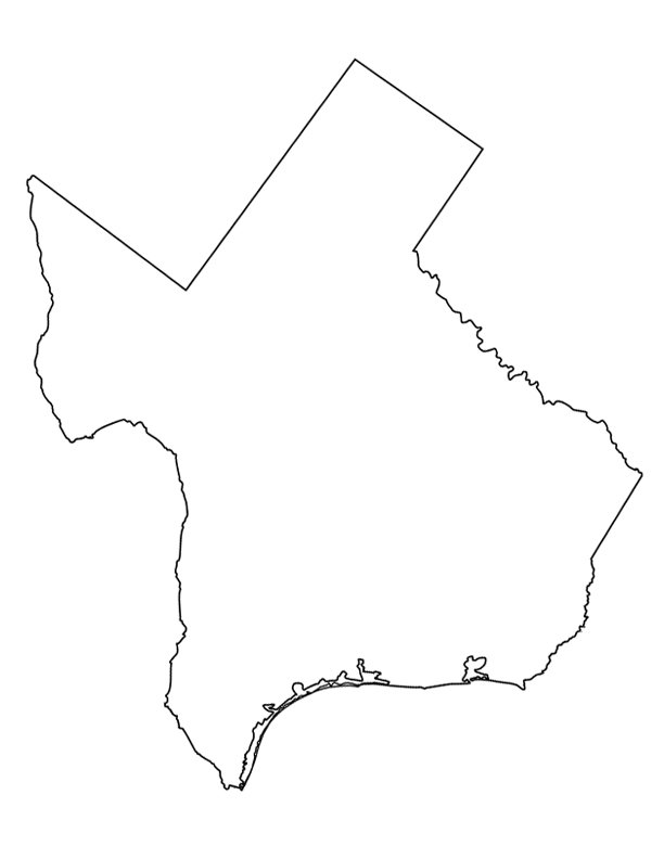 612x792 State Of Texas Map Clipart All About Clipart