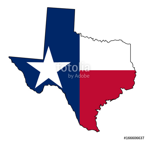 500x483 Texas Map Outline And Flag Stock Image And Royalty Free Vector