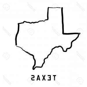 300x300 Texas Vector Map Silhouette High Detailed Arenawp