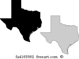 261x194 Free Texas Outline Vector Art Prints And Wall Artwork Freeart