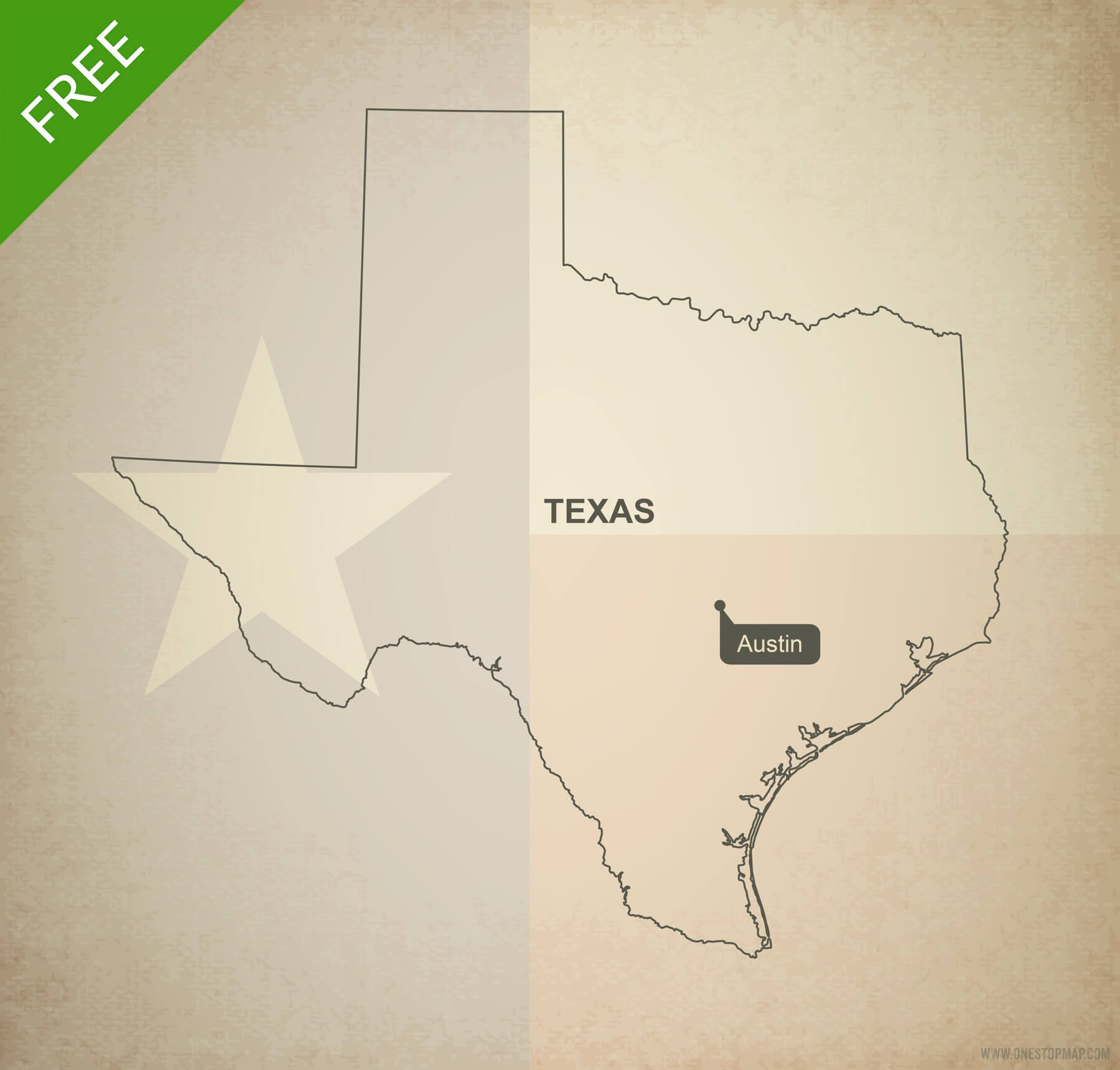 1800x1720 Free Vector Map Of Texas Outline One Stop Map