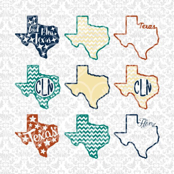 600x600 Texas State Shape Monogram Chevron Outline Svg Studio Ai Eps