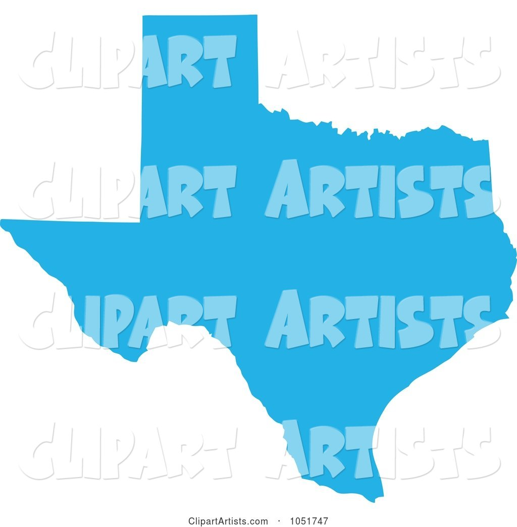 1024x1044 Blue Silhouetted Shape Of The State Of Texas, United States