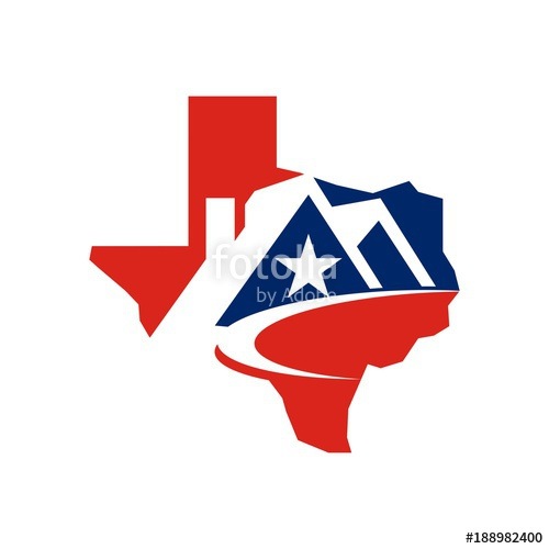 500x500 Real Estate Logo, House Shape Inside Texas Map Logo Design