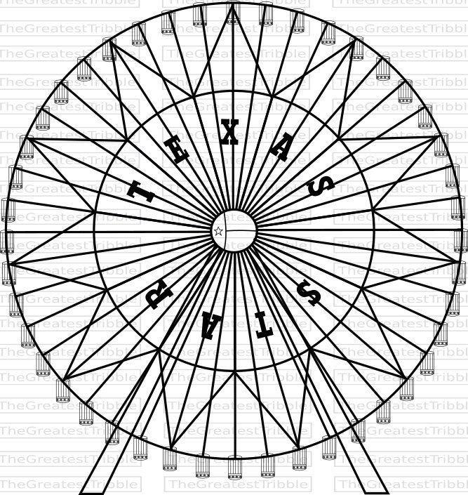 667x705 Ferris Wheel Texas Star Ferris Wheel Svg Png Jpg Vector Graphic
