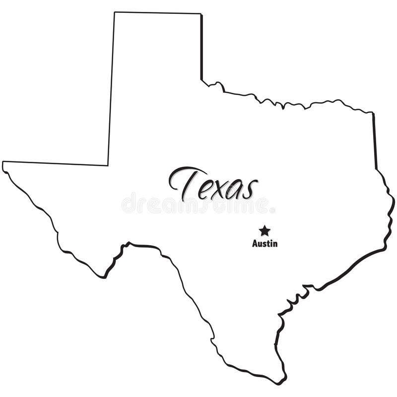 800x800 Texas State Map Outline State Of Texas Outline Stock Vector