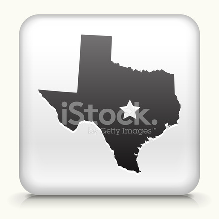 440x440 Square Button With Texas Map Royalty Free Vector Art Stock Vector