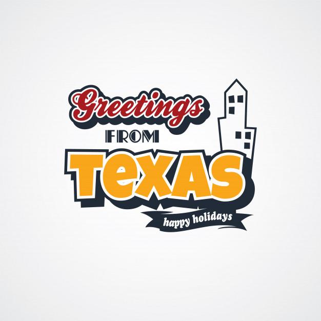 626x626 Texas Vacation Greetings Theme Vector Art Illustration Vector