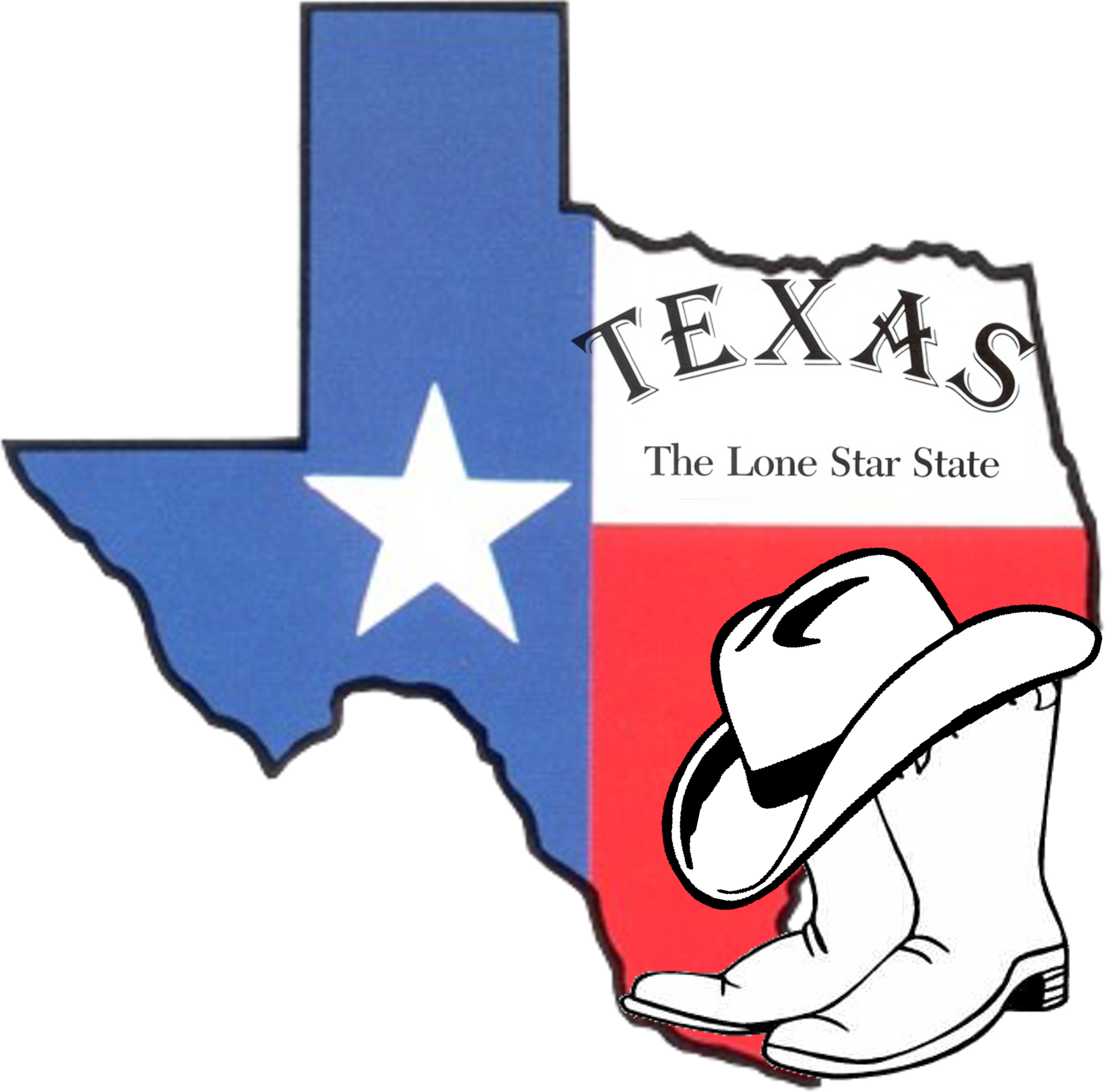 2901x2866 Texas Vector Art Clipart Image 1