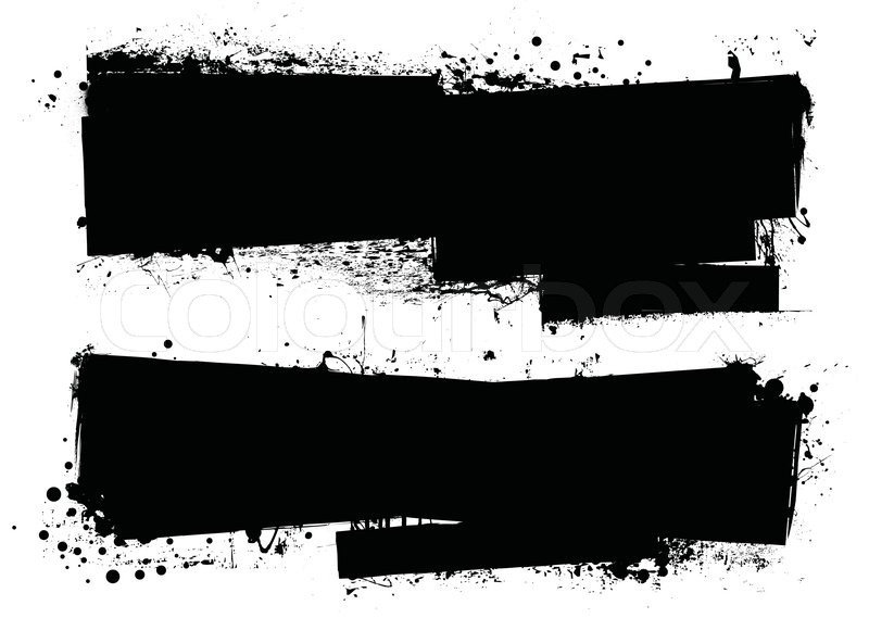 800x569 Two Grunge Splat Banners With Space For Your Text Stock Vector