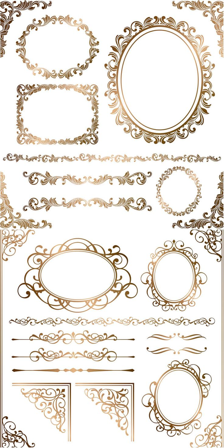 736x1472 Decorative Text Box Borders Flower Clipart Collection