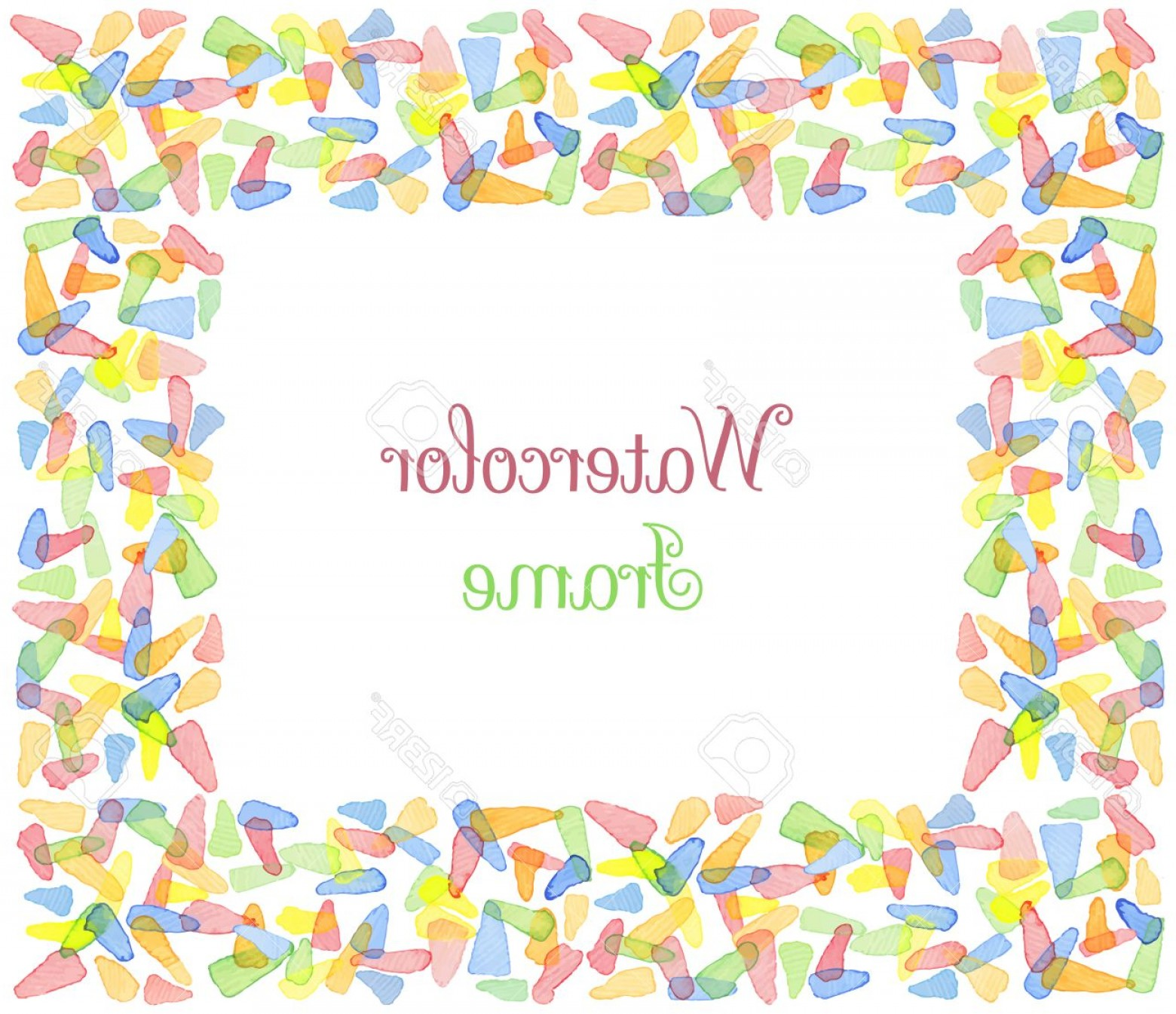 1560x1345 Photostock Vector Hand Painted Water Color Frame With Text Cute