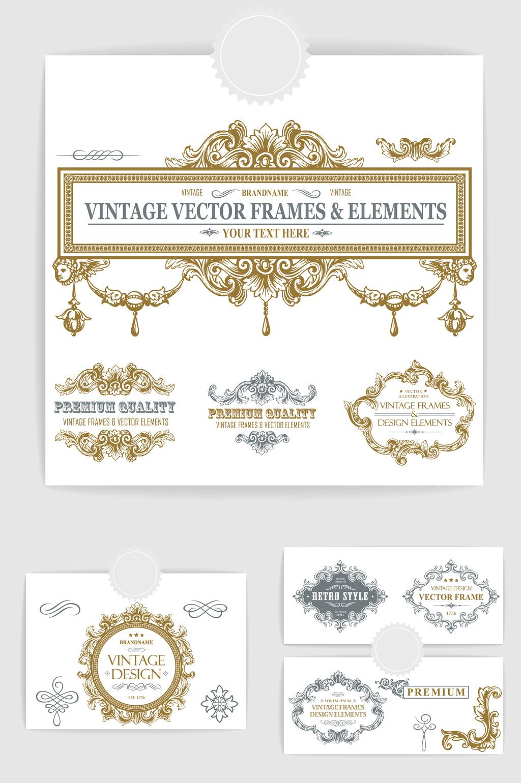 1024x1540 Vintage Title Box Flower Border Vector Element Free Download Pikbest