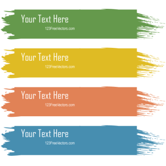 340x340 Free Colorful Text Box Graphics 123freevectors