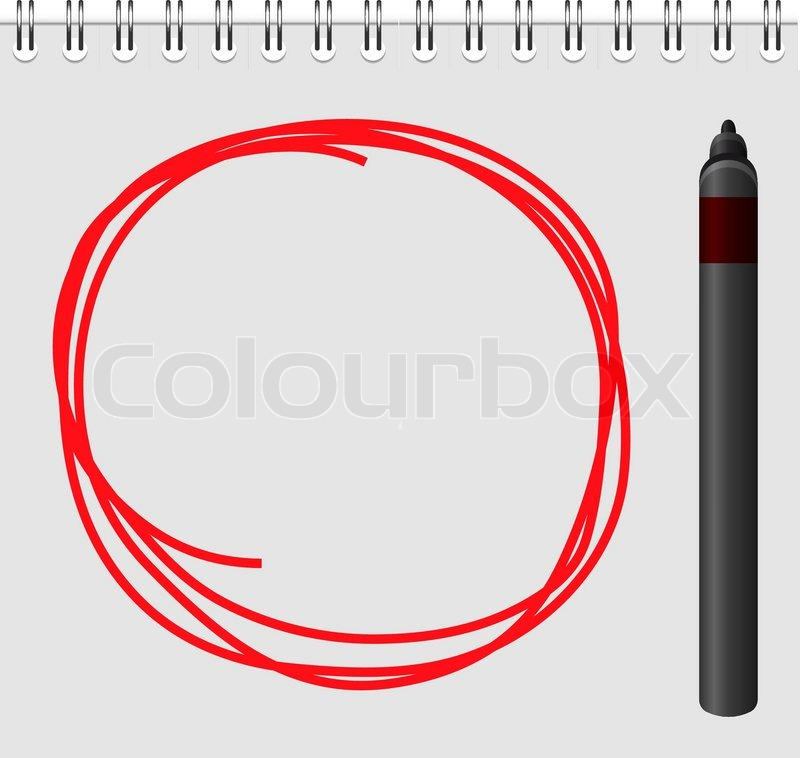 800x758 Notepad With Red Marker Text Box Stock Vector Colourbox