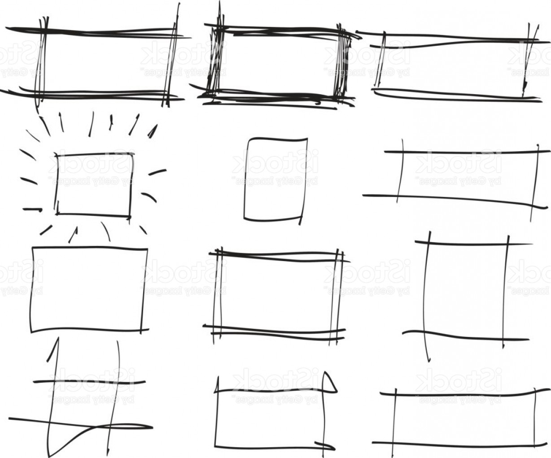 1228x1021 Text Box And Frames Set Hand Drawn Rectangle Art Illustration