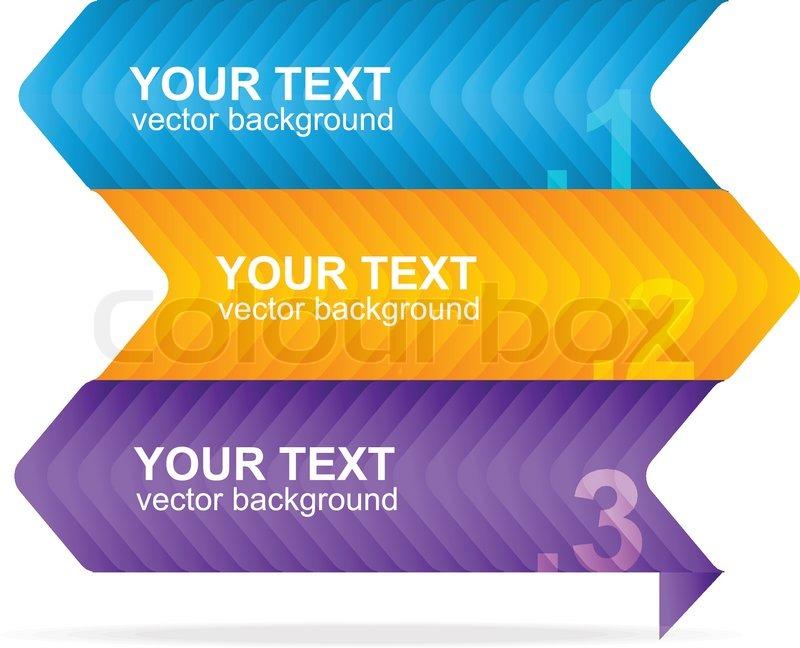 800x648 Vector Colorful Text Box 1,2,3 Concept Stock Vector Colourbox