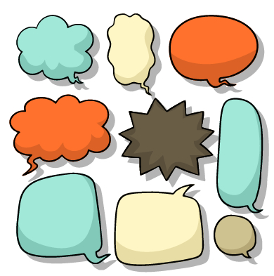 390x393 Explosion Style Speech Bubble Vector Free Download