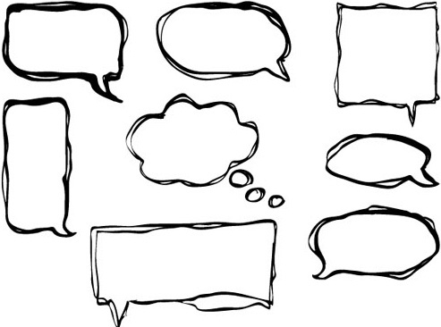 493x366 Modern Speech Bubble Free Vector Download (9,098 Free Vector) For