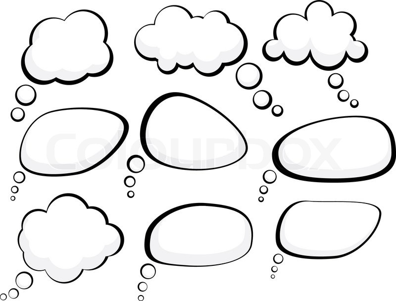 800x608 Set Of Comic Style Speech Bubbles Vector Illustration Stock