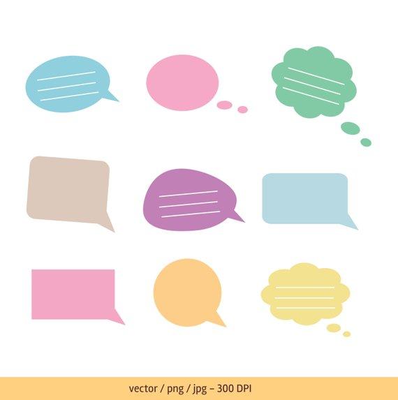 570x573 Text Bubble Speech Bubble Thought Bubble Vector Text Bubble Etsy