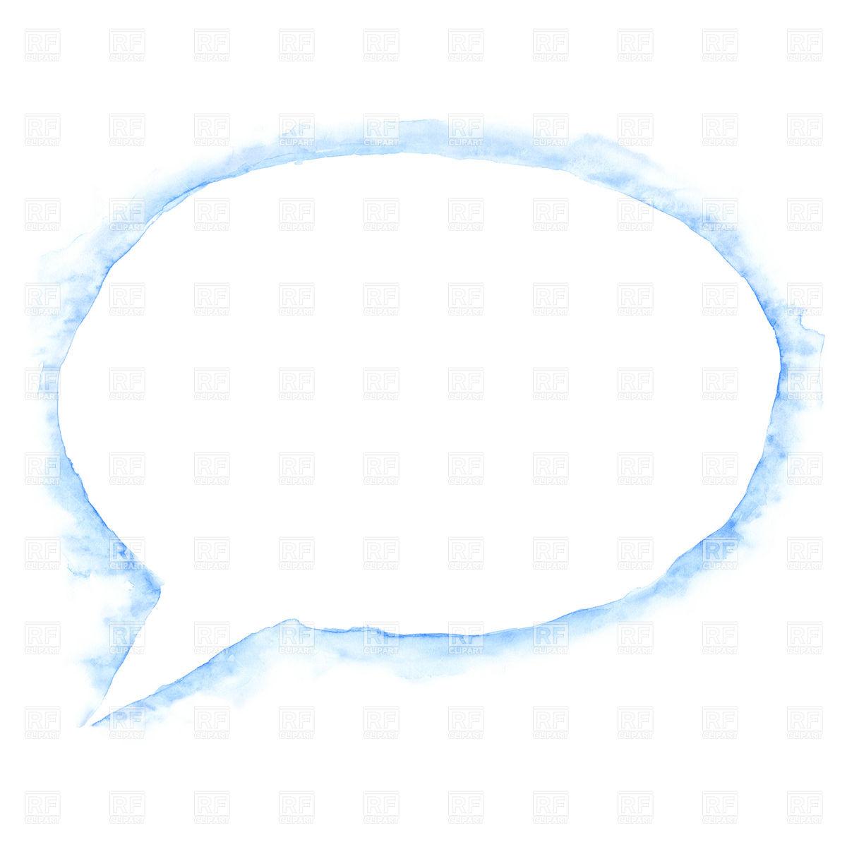 1200x1200 Watercolor Empty Speech Bubble Vector Image Vector Artwork Of