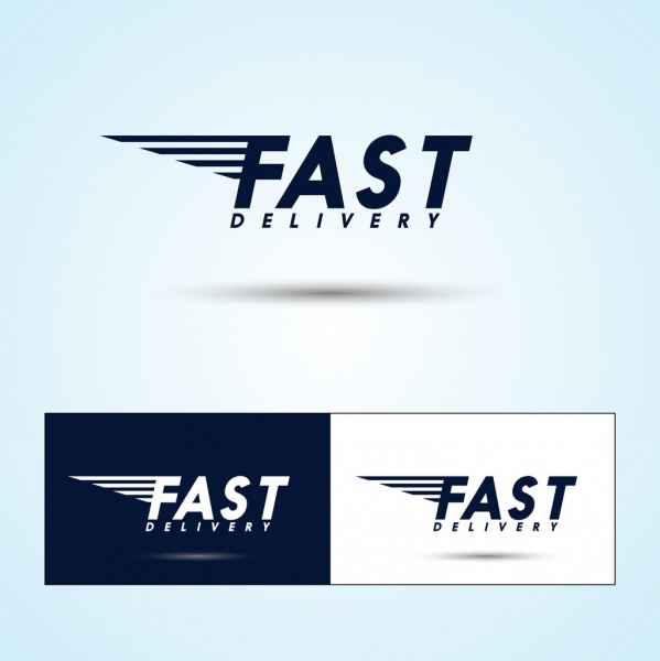 599x600 Fast Delivery Logo Sets Capital Texts Decoration Free Vector In
