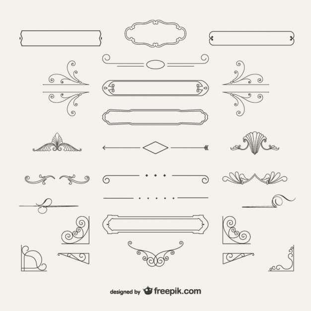 626x626 Variety Of Ornamental Decorations Vector Free Download