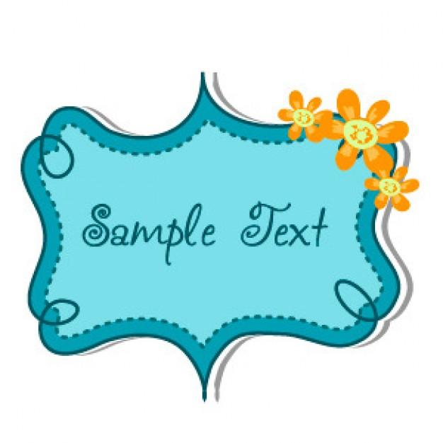626x626 Sample Text Frame Vector