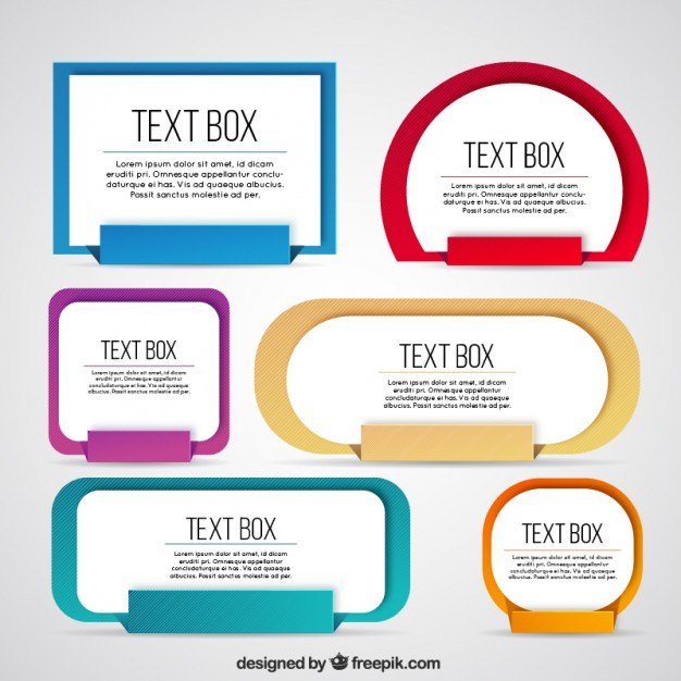 626x626 Collection Of Colored Text Box Vector Free Download