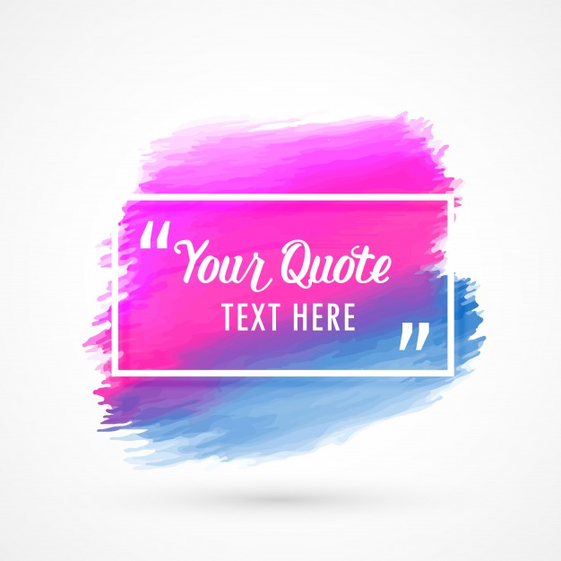 626x626 Text Frame With Watercolor Stain Vector Free Download