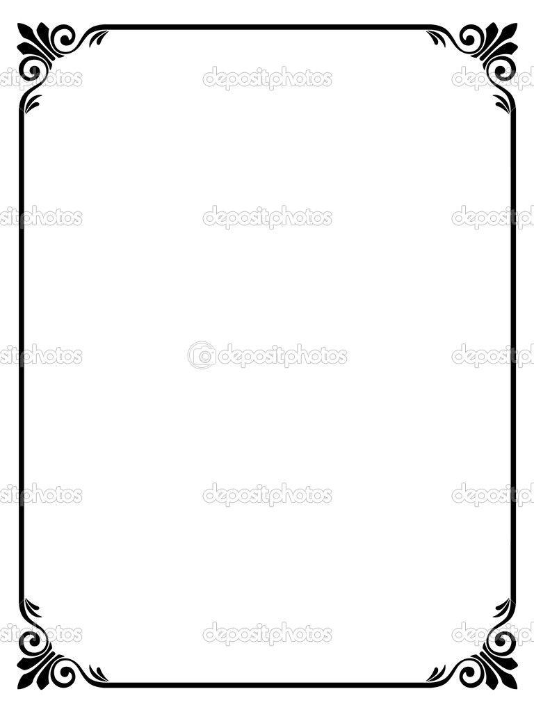 768x1024 Elegant Frame Vector Clipart Panda Free Clipart Images