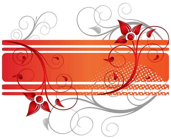 598x487 Floral Design Text Frame Vector 123freevectors