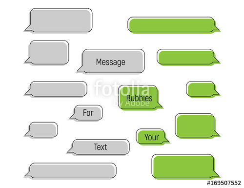 500x385 Message Bubbles In Trendy Flat Style, Message Bubbles For Your