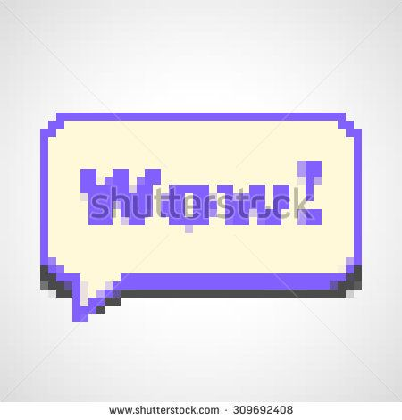 450x470 Pixel Bubble Vector. Bubble With Text Wow. Great Stock Images