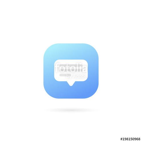 500x500 Text Message Logo Template Design Vector. Speech Bubble Symbol