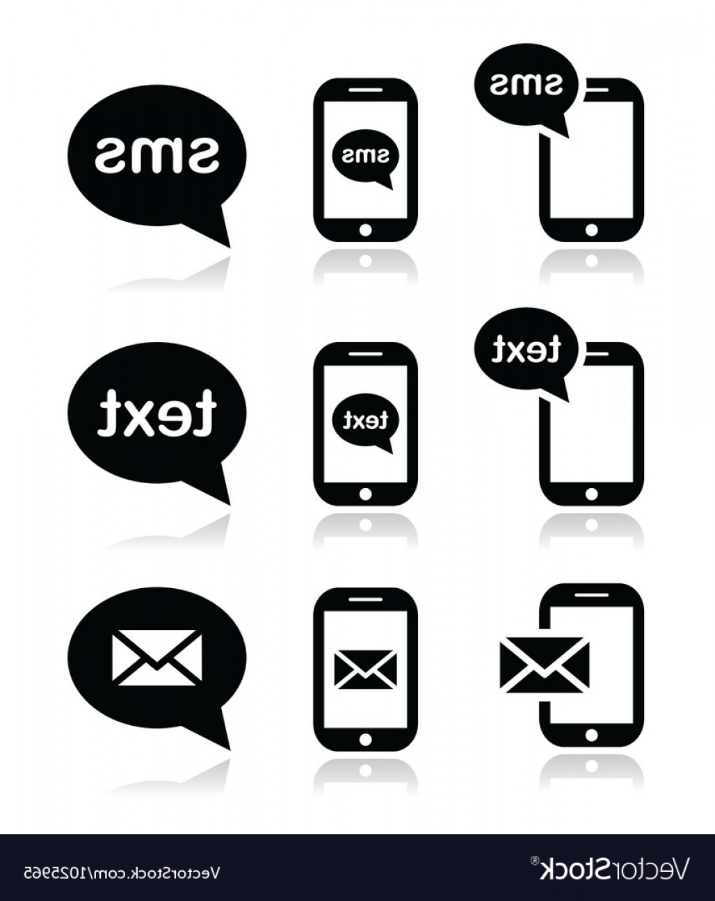1028x1296 Mobile Sms Text Message Mail Icons Set Vector Lazttweet