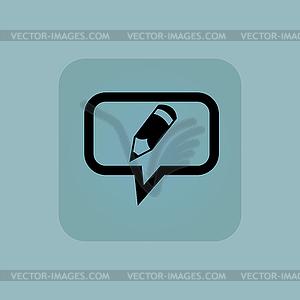 300x300 Pale Blue Pencil Message Icon