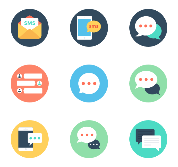 600x564 Text Message Icons