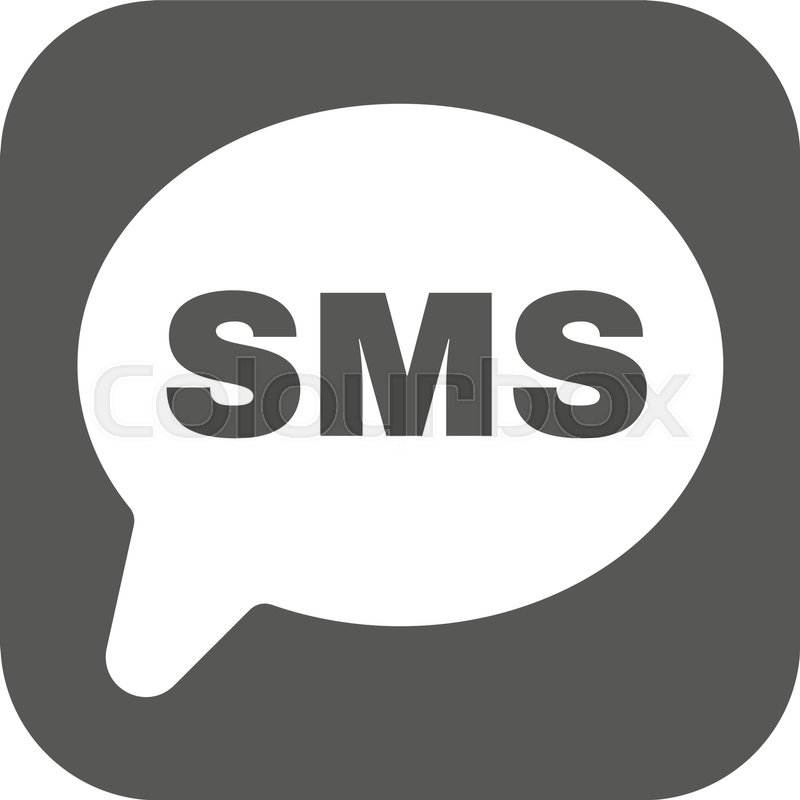 800x800 The Sms Icon. Text Message Symbol. Flat Vector Illustration